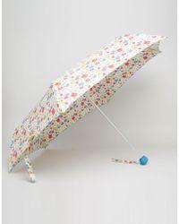Cath Kidston - Minilite Umbrella In Paradise Field Print - Lyst