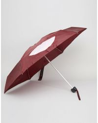 Lulu Guinness - Tiny Umbrella In Abstract Lips Print - Lyst