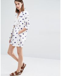 SELECTED - Elected Fria Spot Print Tailored Shorts - Lyst