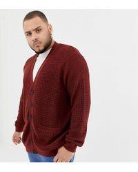New Look - Plus Cardigan In Rust - Lyst