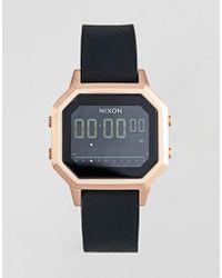Nixon - A1211 Siren Digital Silicone Watch In Black - Lyst