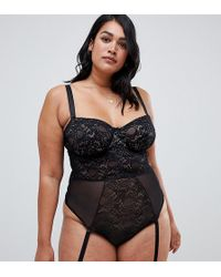 ASOS - Asos Design Curve Khloe Lace Underwire Body With Removable Straps - Lyst