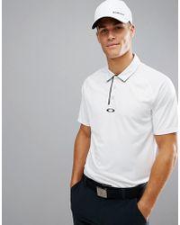 Oakley | Golf Elemental Polo Regular Fit In White | Lyst