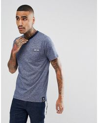 Gio Goi - Logo Pocket T-shirt In Navy Marl - Lyst