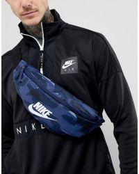 Nike - Camo Bumbag In Blue - Lyst