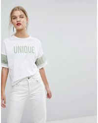 Mango - Unique T-shirt - Lyst