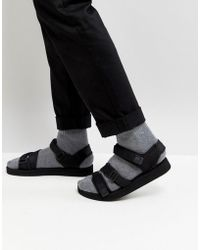ASOS - Asos Sandals In Black With Tape Straps - Lyst