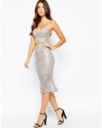 Bardot - Midi Skirt In Metallic Lace - Lyst