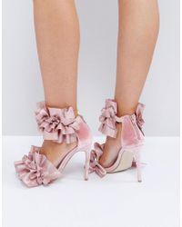 Jeffrey Campbell - Jeffrey Cambell Tangos Blush Heeled Sandals - Lyst