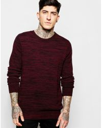 Lindbergh - Sweater With Textured Knit & Zip Shoulder - Lyst