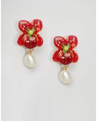 Les Nereides - Les Néréides Floral Drop Earrings - Lyst
