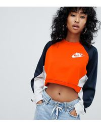 Nike - Sweat-shirt color block en maille polyester - Lyst