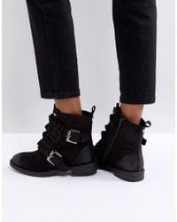 Miss Kg | Spice Ruffle Flat Boots | Lyst