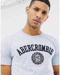c90ebf6e Abercrombie & Fitch - Chest Applique Logo T-shirt In Blue Marl - Lyst