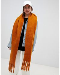 Weekday - Oversized Scarf In Rust - Lyst