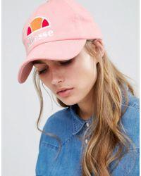 Ellesse - Baseball Cap In Pink - Lyst