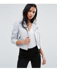 New Look - Faux Leather Biker Jacket - Lyst