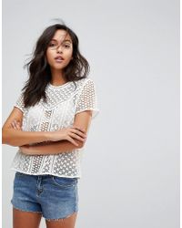 Abercrombie & Fitch - Laser Cut Top - Lyst