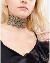 Vanessa Mooney - Lace Choker With Gold Plating - Lyst