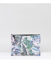Hype Exclusive Pastel Garden Palm Print Pouch