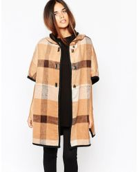 Warehouse - Checked Cape - Lyst