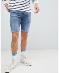 Blend - Lightwash Denim Shorts - Lyst