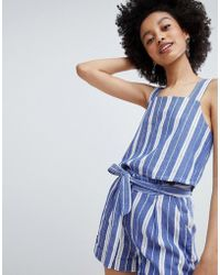 ONLY - Stripe Cami Top Two-piece - Lyst