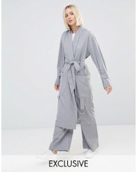 House Of Sunny - Luxe Casual Trench Coat Co-ord - Lyst
