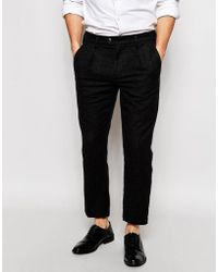 ADPT - Wool Casual Trousers In Slim Fit - Lyst