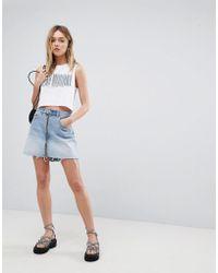 Cheap Monday - Denim Mini Skirt With Exposed Zip - Lyst