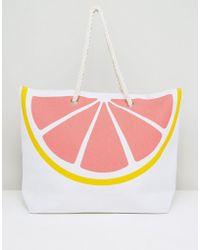 South Beach - Pink Grapefruit Beach Bag - Lyst