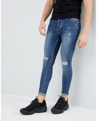 Kings Will Dream - Muscle Fit Lumor Jeans In Midwash Blue - Lyst