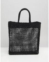 South Beach - Woven Straw Shopper Bag - Lyst