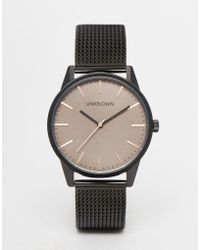 Unknown - Classic Mesh Watch With Brown Dial - Lyst