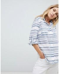 Oasis - Stripe Oversized Shirt - Lyst