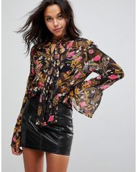 Millie Mackintosh - Rose Print Embroidery Blouse - Lyst
