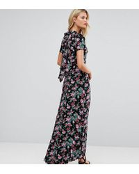 ASOS - Maxi Dress With Deconstructed Back In Floral Print - Lyst