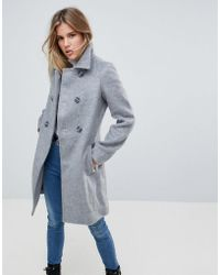 First & I - Double Breasted Coat - Lyst