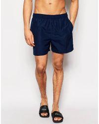 D-Struct - Plain Swim Shorts In Blue - Lyst