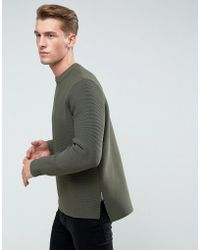 Bellfield - Structured Knit With Raw Hems - Lyst