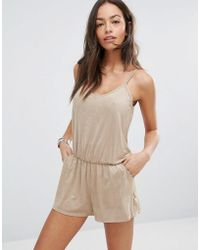 Surf Gypsy - Faux Suede Beach Playsuit - Lyst