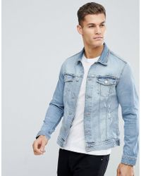 Jack & Jones - Intelligence Denim Jacket With Rip Repair In Organic Cotton - Lyst