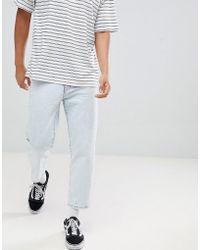 Dr. Denim - Otis Cropped Skater Jeans Worn Superlight Blue - Lyst