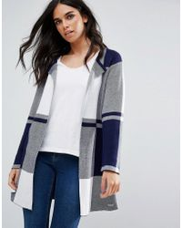 Bellfield - Lally Oversized Check Cardigan - Lyst