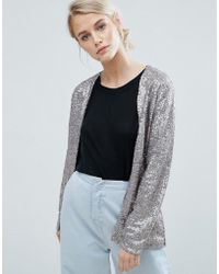 Storm and Marie | Storm & Marie Glam Sequin Collarless Blazer | Lyst