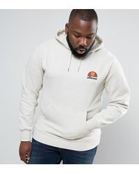 Ellesse - Hoodie With Small Logo In Beige - Lyst