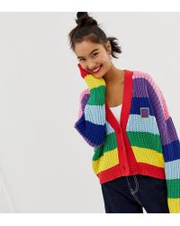 Lazy Oaf - Cardigan dcontract en maille - Lyst