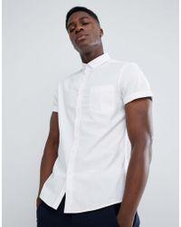 e47899447c ASOS - Camisa Oxford de corte slim casual en blanco de - Lyst