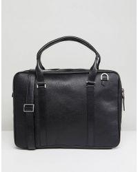 Royal Republiq - Affinity Leather Laptop Bag In Black - Lyst