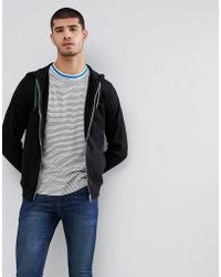 PS by Paul Smith - Hooded Zip Through Sweat In Black - Lyst